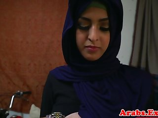 Arab hijabi fucked in call into disrepute tight pussy