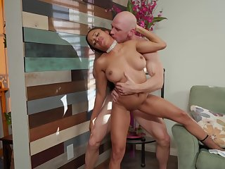 Anya Ivy and her perfect big titties in an interracial video