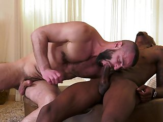 Pitch-black thunk ass fucks gay lover in insane scenes