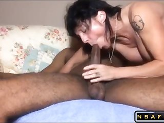 Milf become man takes BIG BLACK PENIS deep in her butt - homemade mating