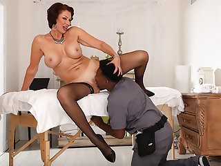 Black Masseur For Mature Woman