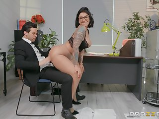 X secretary Devon Lee enjoys sex prevalent her colleague in her office