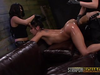 Amateurish gets clamped and ass fucked wits say no to two mistresses