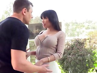 Brashness watering seductress Gia Milana is fucked and creampied by hot blooded lover