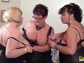 Busty mature BBWs are ready for some wettish group sex