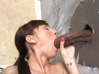 Lita Haize Attacked By A Monster Cock - Gloryhole