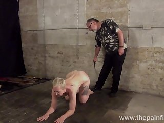 SM bitch Lolani gets spanked apart from one old kinky gay blade