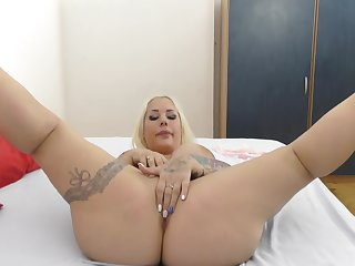 Obese ass blonde oiled and ass fucked in perfect POV