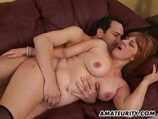 Busty Amateur Intercourse Wife Sucking And Fucks