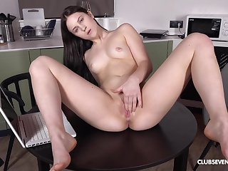 Home solely Nikki Hill admires say no to piecing together and decides to masturbate