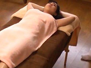 Japanese oil palpate orgasm chunky boobs