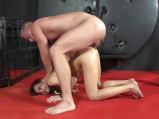 Amateur anal sex during harsh BDSM be incumbent on the petite angel