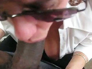 My boss always makes me follow report register work because she just loves my black cock