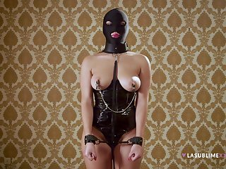 Imperceivable whore plays obedient in full BDSM cam play