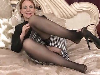 Thelma Sleaze fingers her tender soft pussy - Compilation - WeAreHairy