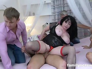 Busty adult brunette is having casual sex with many horny family tree before same ripen