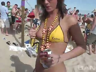 These party sluts love to show off their delectable bodies in hot bikinis