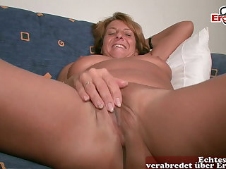 Horny old mature German housewife at sexual relations cast