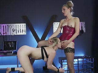 Outstanding lesbian BDSM session with Mona Wales with an increment of Cadence Lux