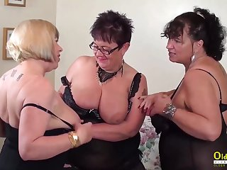 OldNannY Three British Matures Hardcore Action