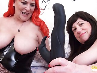 OldNannY Two British Mature Lesbians Together