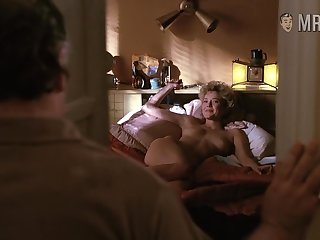 Annette Bening waiting be incumbent on her man in bed in the long run b for a long time being completely naked