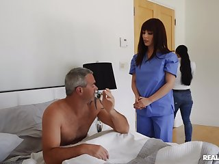 Hot nurse treats what really happened close to proper pussy