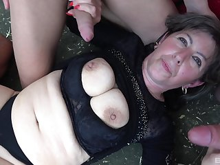 Dirty mature drops on the floor nearby be fucked by one strangers