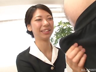 Asian amateur Sakurai Mika drops on say no just about knees just about suck a dick