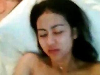 indonesian chick with hairy pussy fucked