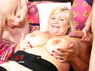 AgedLovE British Mature Lacey Starr Got it Both Ways From Sam Bourne and Jack
