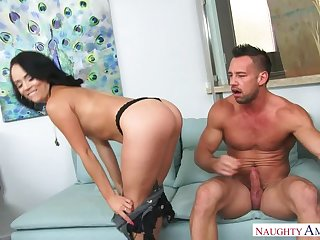 Kristina Rose fucking in the couch with her sizzle hinie
