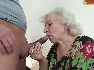 GERMAN ORDERLY CAUGHT GRANNIE JERK Together with HELP WITH Dollop